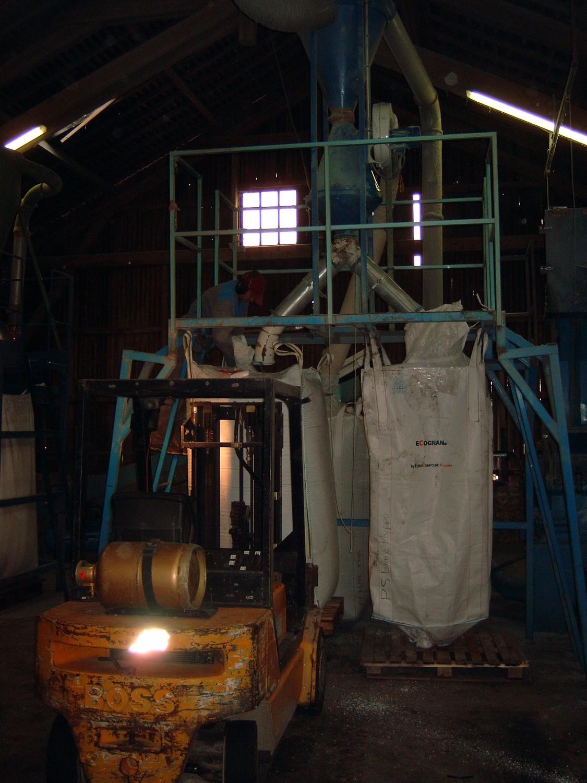 Les granulés sont conditionnés en big-bags